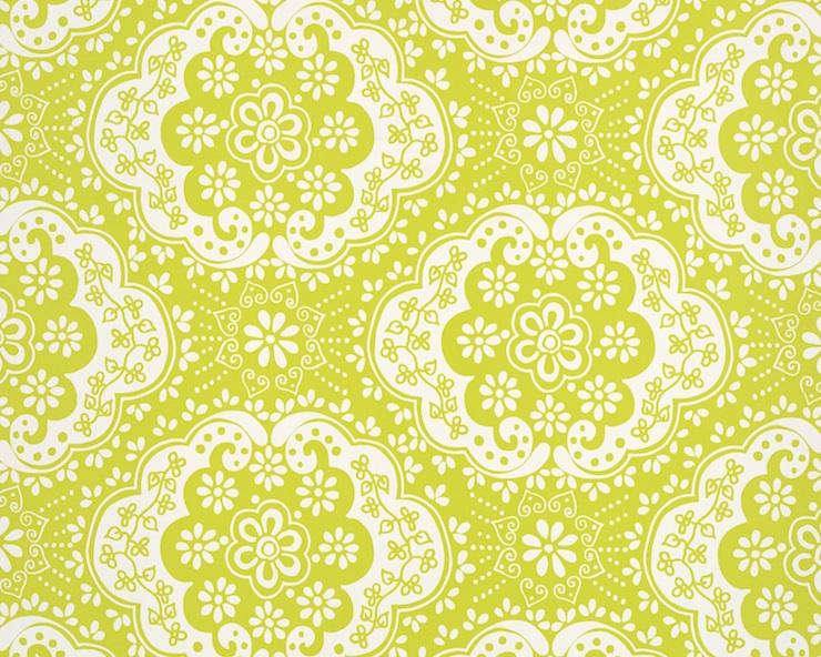 Designer Wallpaper-Room7-Paper Lace Lime copy