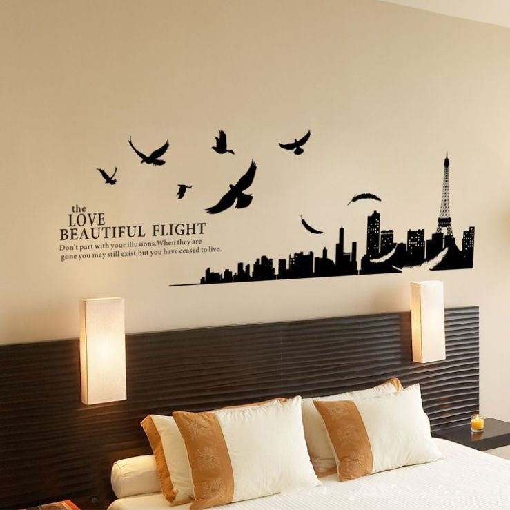 Wall-Art-Home-Decor-AY1913-Paris-Bedroom-Decor-Modern-Wall-Decal-Stickers-Home-Decoration-DIY-Wall-Art-Free-Shipping