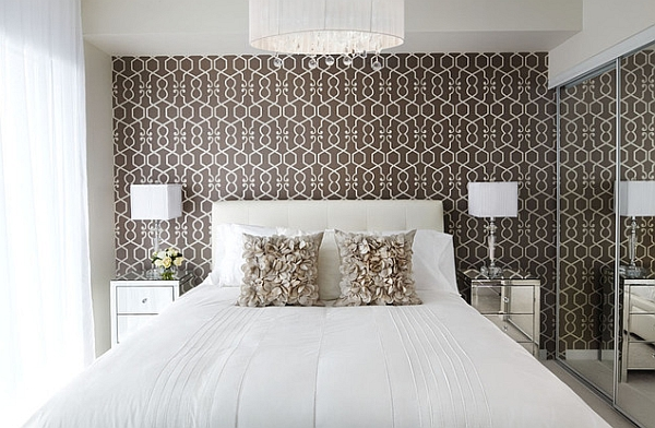 Astonishing-Patterned-Wallpaper-in-the-White-Bedroom-Adds-Both-Color-and-Style