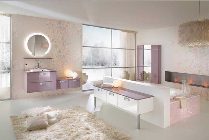 Beautiful-bathroom-rugs-with-a-little-touch-of-mauve-and-wall-wallpaper-and-light-add-to-the-beauty-of-your-bathroom-and-not-only-look-beautiful-also-looks-very-luxurious
